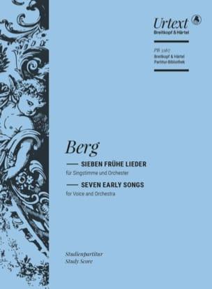 Sieben Frühe Lieder BERG Partition Petit format - laflutedepan