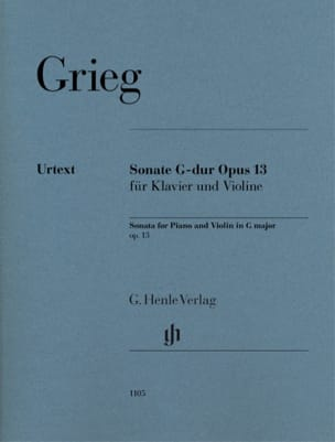 Edvard Grieg - Sonate opus 13 - Sheet Music - di-arezzo.co.uk