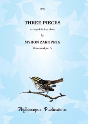 Three pieces - compositeurs Divers - Partition - laflutedepan.com