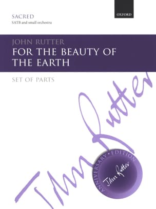 For the beauty of the earth - RUTTER - Partition - laflutedepan.com
