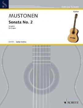 Sonate n° 2 Olli Mustonen Partition Guitare - laflutedepan
