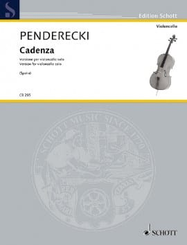 Krzysztof Penderecki - Cadenza (Cello) - Sheet Music - di-arezzo.com