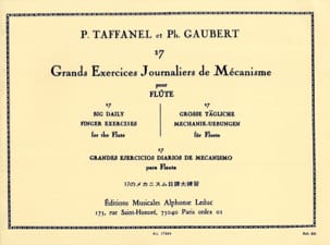 TAFFANEL - GAUBERT - 17 Grands Exercices Journaliers - Partition - di-arezzo.fr