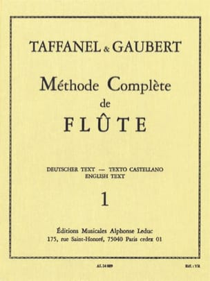 TAFFANEL - GAUBERT - Complete Flute Method - Volume 1 - Sheet Music - di-arezzo.com