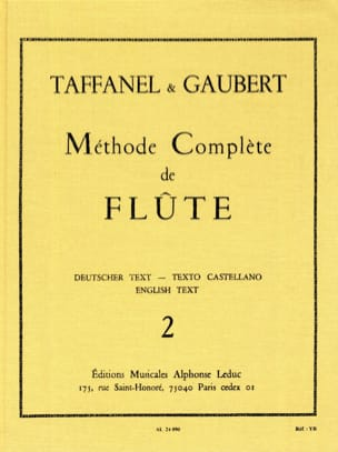 TAFFANEL - GAUBERT - Complete Flute Method - Volume 2 - Sheet Music - di-arezzo.co.uk