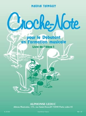 Nadia Tanguy - Croche-Note - Volume 1 - Sheet Music - di-arezzo.co.uk