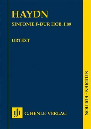 Symphonie n° 89 Joseph Haydn Partition Petit format - laflutedepan