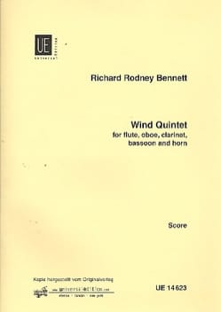 Richard Rodney Bennett - Wind Quintet - Conducteur - Partition - di-arezzo.fr