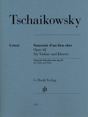 Souvenir d'un lieu cher, op. 42 TCHAIKOVSKY Partition laflutedepan