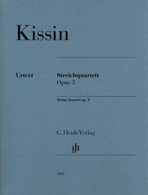 Quatuor à Cordes, op. 3 Evgeny Kissin Partition laflutedepan