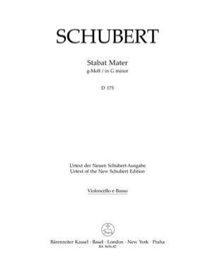 Stabat Mater in G minor D 175 SCHUBERT Partition laflutedepan