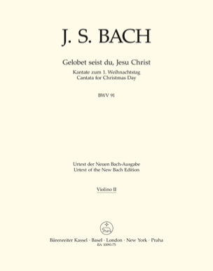 Gelobet seist du, Jesu Christ BWV 91 - laflutedepan.com