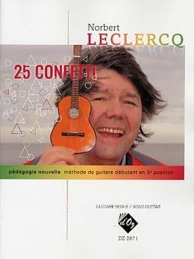 25 Confetti Norbert LECLERCQ Partition Guitare - laflutedepan