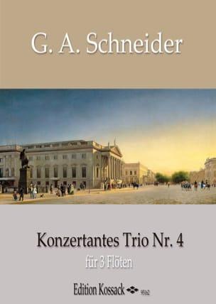 Trio Concertant n° 4 Georg Abraham Schneider Partition laflutedepan