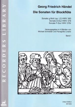 Sonates Vol. 1 - HAENDEL - Partition - Flûte à bec - laflutedepan.com
