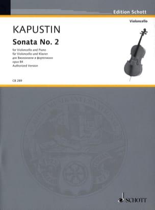 Sonata No. 2 Nikolai Kapustin Partition Violoncelle - laflutedepan