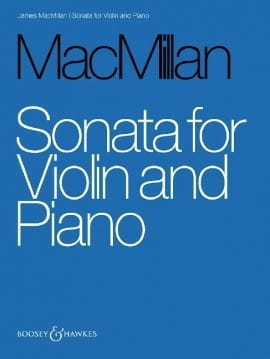 Sonate - James MacMillan - Partition - Violon - laflutedepan.com