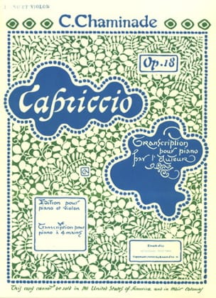Capriccio op.18 - Cécile Chaminade - Partition - laflutedepan.com