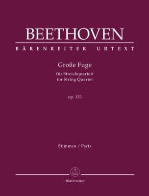 Grande Fugue, op. 133 BEETHOVEN Partition Quatuors - laflutedepan