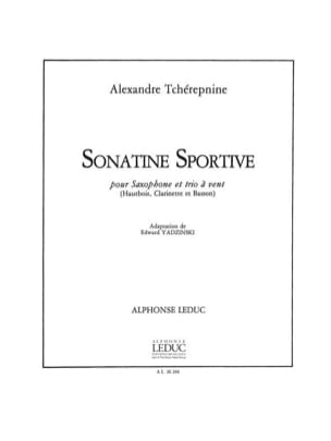 Alexandre Tcherepnine - Sonatine sportive – Saxophone et trio à vent - Partition - di-arezzo.fr