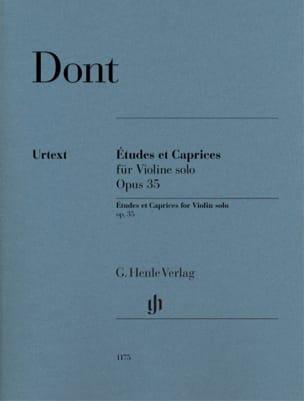 Jacob Dont - Estudios y Caprichos, opus 35 - Partitura - di-arezzo.es
