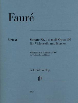 FAURÉ - Sonata n. 1, opus 109 - Partition - di-arezzo.it