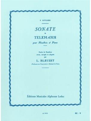 TELEMANN - Sonate - Hautbois et piano - Partition - di-arezzo.fr