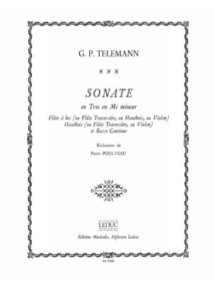 TELEMANN - Sonata in trio in E minor - Sheet Music - di-arezzo.com