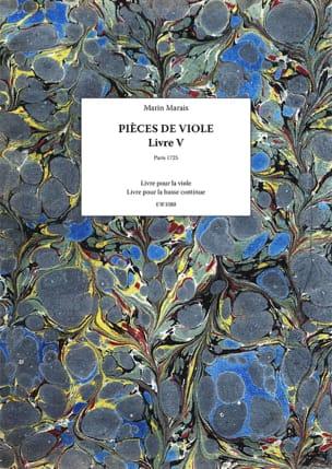 Pieces de viole - Livre 5 Marin Marais Partition laflutedepan