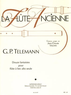 TELEMANN - 12 Fantasies - fl. with alto nose - Sheet Music - di-arezzo.co.uk