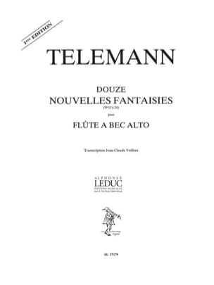 TELEMANN - 12 New fantasies - fl. with alto nose - Sheet Music - di-arezzo.co.uk