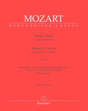 MOZART - Messe Kv 427 - Partition - di-arezzo.fr