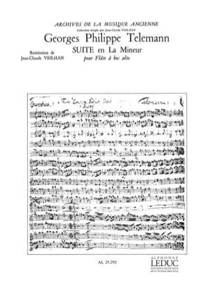 TELEMANN - Suite en la menor - fl. con nariz alta - Partitura - di-arezzo.es