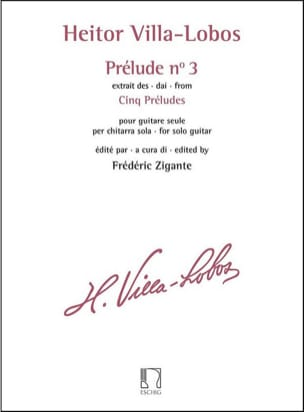 Heitor Villa-Lobos - Prelude N ° 3 - Sheet Music - di-arezzo.co.uk