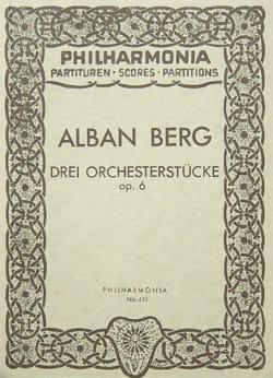 Alban Berg - 3 Orchesterstücke op. 6 - Partitur - Sheet Music - di-arezzo.com