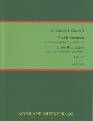 Clara Schumann - Drei Romanzen opus 22 - Sheet Music - di-arezzo.co.uk