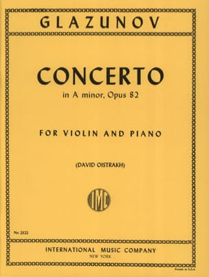 Concerto op. 82 Alexandre Glazounov Partition Violon - laflutedepan