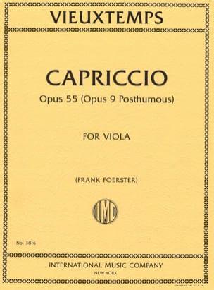 Capriccio, opus 55 VIEUXTEMPS Partition Alto - laflutedepan