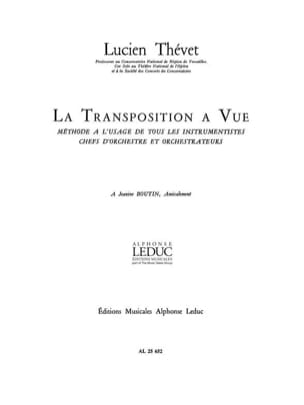 Lucien Thevet - View Transposition - Sheet Music - di-arezzo.co.uk