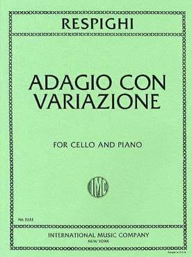 Ottorino Respighi - Adagio con Variazioni - Partition - di-arezzo.it