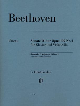 Ludwig van Beethoven - Sonata, opus 102 n ° 2 - Partition - di-arezzo.it