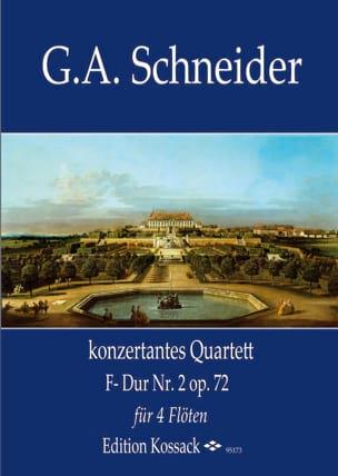Quatuor Concertant n° 2, opus 72 Georg Abraham Schneider laflutedepan