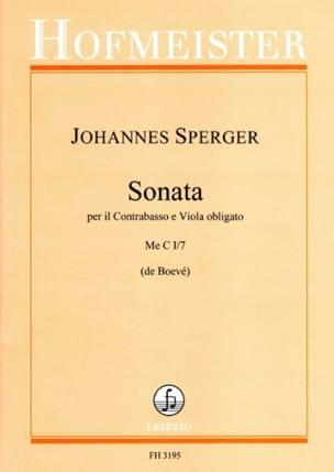 Sonata Me C I/7 Johann Matthias Sperger Partition 0 - laflutedepan