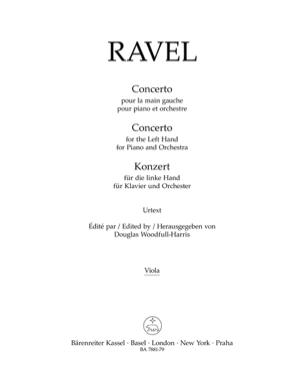 Concerto pour la main gauche RAVEL Partition laflutedepan