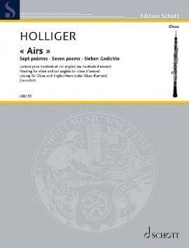 Heinz Holliger - Airs - 7 Poems - Sheet Music - di-arezzo.co.uk