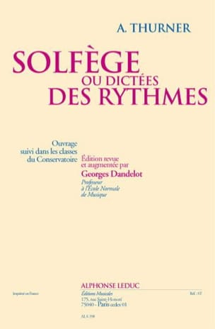 A. Thurner - Solfeggio or dictations of rhythms - Sheet Music - di-arezzo.co.uk