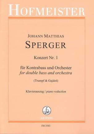 Johann Matthias Sperger - Concerto N ° 1 - Sheet Music - di-arezzo.co.uk