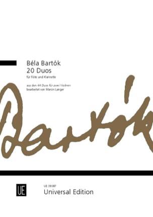 20 Duos - Flûte et Clarinette Béla Bartok Partition laflutedepan