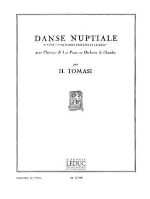Danse nuptiale TOMASI Partition Clarinette - laflutedepan