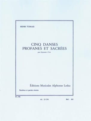 Henri Tomasi - 5 Secular and Sacred Dances - Wind Quintet - Sheet Music - di-arezzo.com
